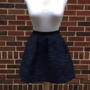 French Connection blue pocket skirt size 4